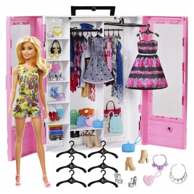 Obrázek produktu Mattel Barbie Skříň na šaty s panenkou a příslušenstvím, GBK12
