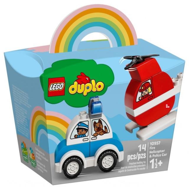 Obrázek produktu LEGO Duplo 10957 Hasičský vrtulník a policejní auto