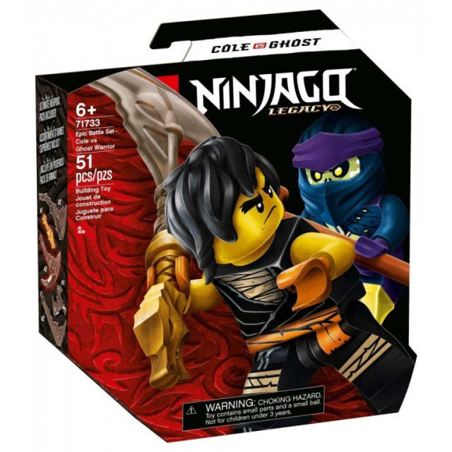 Obrázek produktu LEGO Ninjago 71733 Epický souboj – Cole vs. přízračný válečník