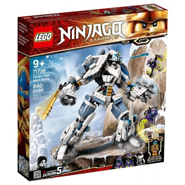 Obrázek produktu LEGO Ninjago 71738 Zane a bitva s titánskými roboty