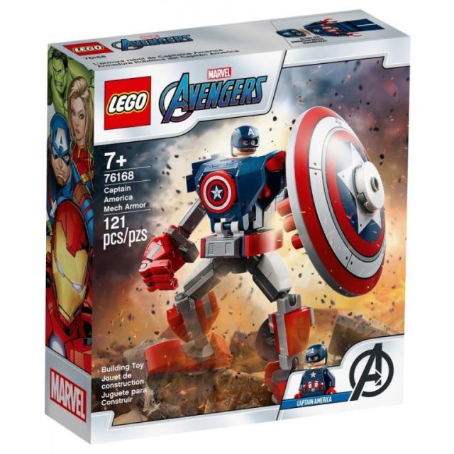 Obrázek produktu LEGO Super Heroes 76168 Captain America v obrněném robotu