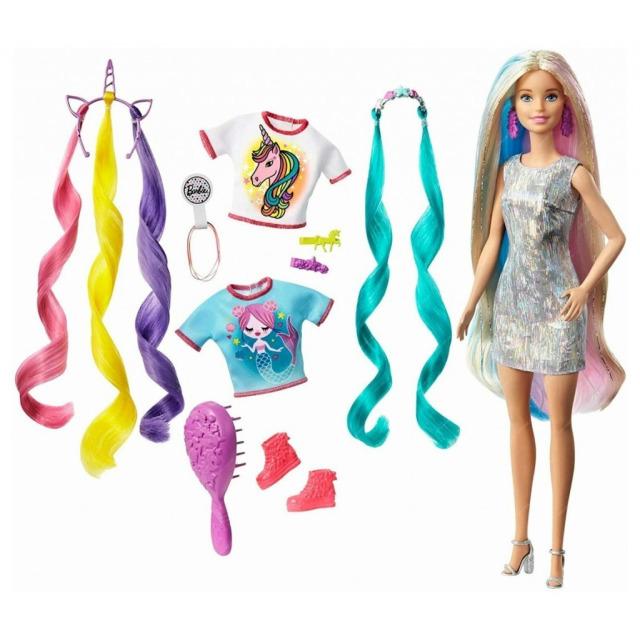 Obrázek produktu Mattel Barbie s pohádkovými vlasy, GHN04