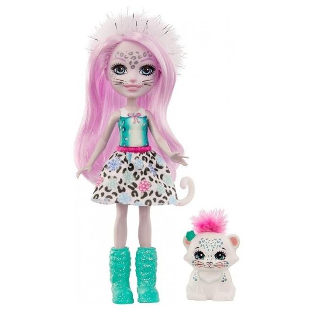 Obrázek produktu ENCHANTIMALS Panenka se zvířátkem Sybill Snoe Leopard a Flake, Mattel GJX42