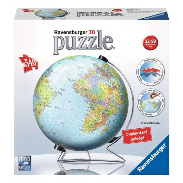 Obrázek produktu Ravensburger 12436 Puzzleball Globus 540 dílků AJ