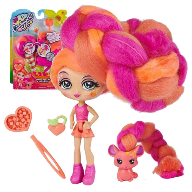 Obrázek produktu CANDYLOCKS Voňavá panenka se zvířátkem Posie Peach a Fin Chilla