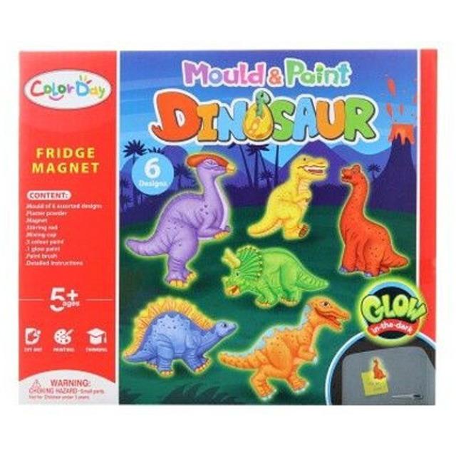 Obrázek produktu Výrobek ze sádry Magnety Dinosauři svítící