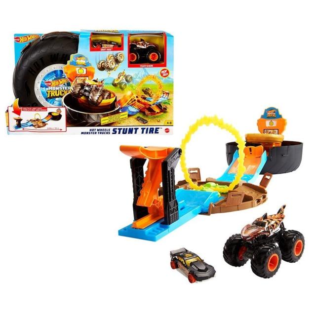 Obrázek produktu Hot Wheels® Monster Trucks Kaskadérské kousky, herní set, Mattel GVK48