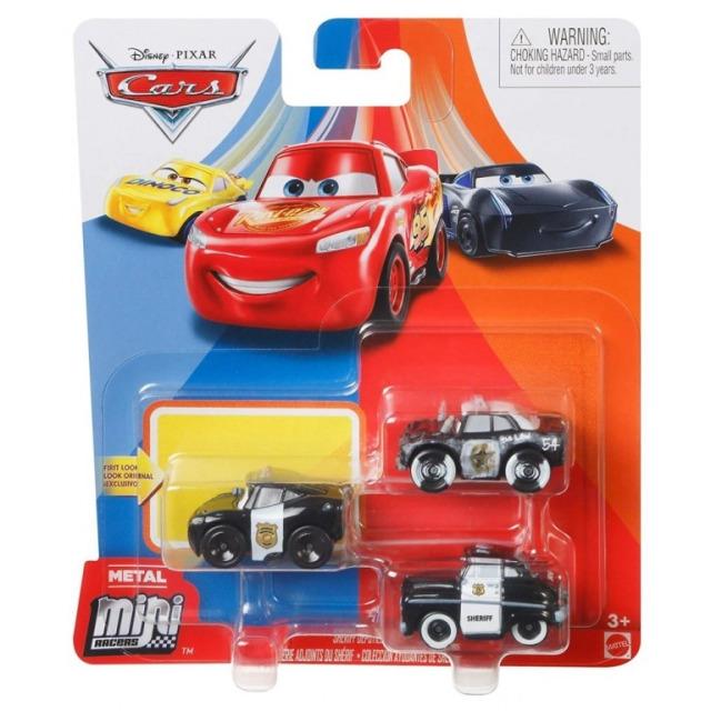 Obrázek produktu Cars 3 Mini auta 3ks Šerif, Mattel GKG60