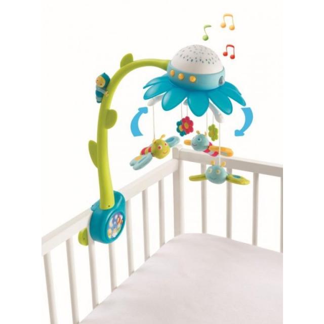 Obrázek produktu Smoby Cotoons Květinový kolotoč s projektorem modrý