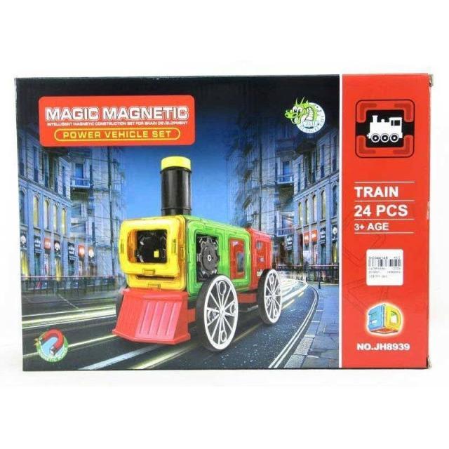 Obrázek produktu Magnetická stavebnice Magic Magnetic 24ks Lokomotiva