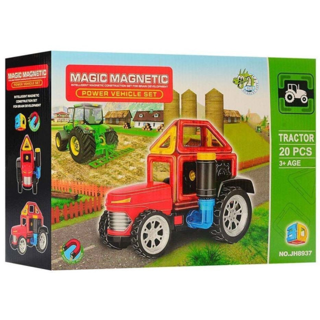 Obrázek produktu Magnetická stavebnice Magic Magnetic 20ks Traktor