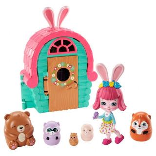 Obrázek 1 produktu ENCHANTIMALS Tajné útočiště nejlepších přátel, Bree Bunny Cabin Mattel GTM47