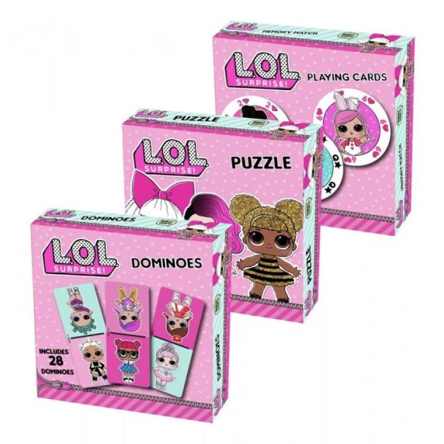 Obrázek produktu MGA L.O.L. SURPRISE Trojitá zábava - puzzle, karty, domino
