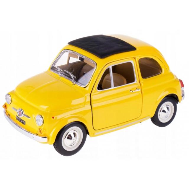 Obrázek produktu Burago Fiat 500 F 1965 1:24  žlutý