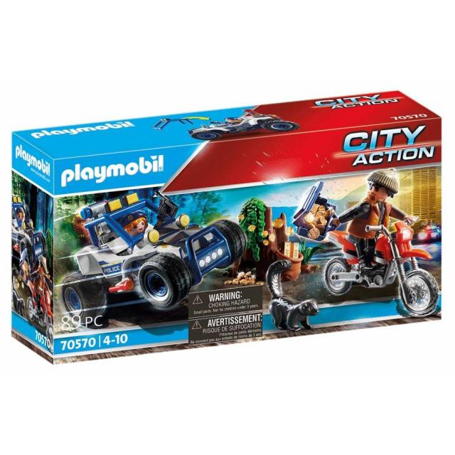 Obrázek produktu Playmobil 70570 Policejní SUV: Pronásledování lupiče pokladu