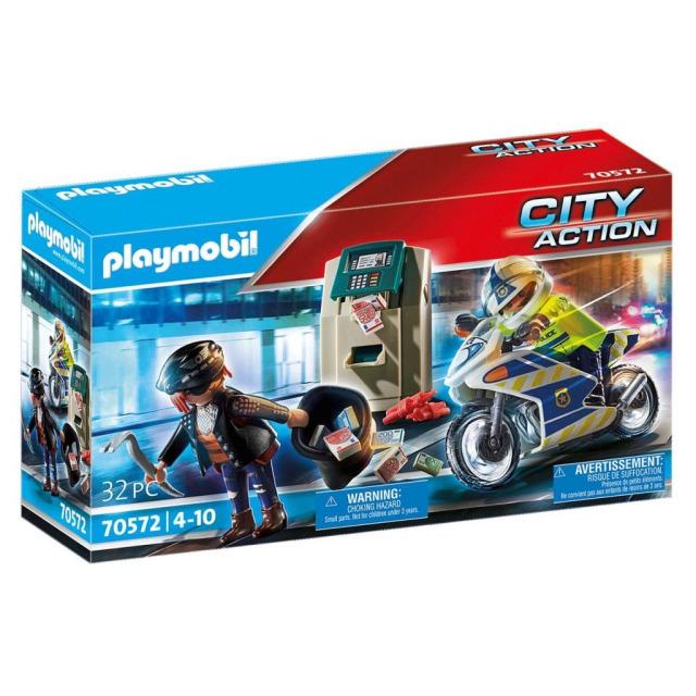 Obrázek produktu Playmobil 70572 Policejní motorka: Pronásledování lupiče