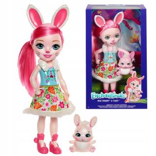 Obrázek 1 produktu ENCHANTIMALS Panenka se zvířátkem Bree Bunny a Twist 30cm, Mattel FRH52