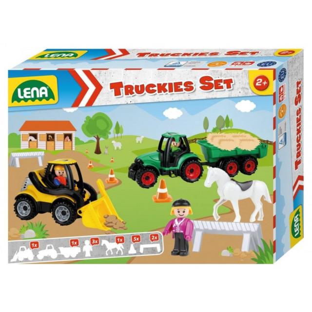 Obrázek produktu LENA Truckies set farma traktor s přívěsem, nakladač