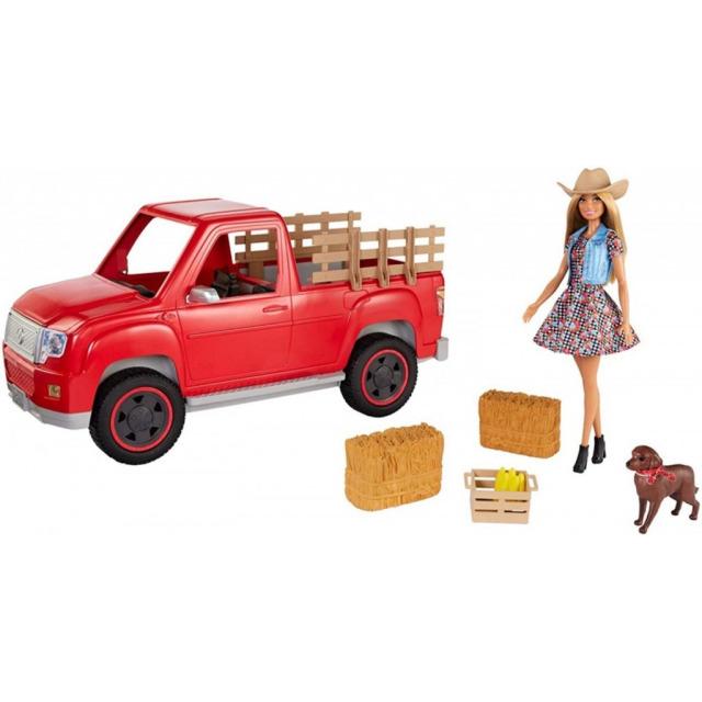 Obrázek produktu Mattel Barbie Auto, Farmářka a její pes, GFF52