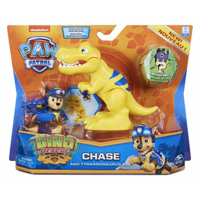 Obrázek produktu Tlapková patrola DINO figurka CHASE a Tyrannosaurus Rex  s vajíčkem