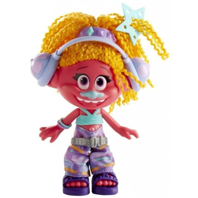 Obrázek produktu TROLLS Malá postavička s extra dlouhými vlasy, DJ Suki