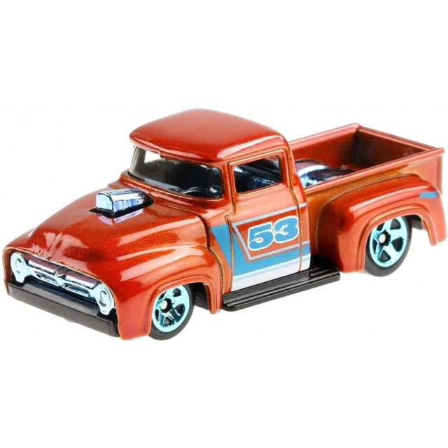 Obrázek produktu Hot Wheels Orange & Blue tematický angličák CUSTOM 56 FORD TRUCK, Mattel GRR37