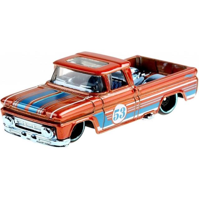 Obrázek produktu Hot Wheels Orange & Blue tematický angličák CUSTOM 62 CHEVY PICKUP, Mattel GRR38