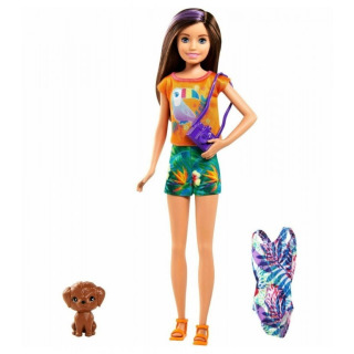 Obrázek 1 produktu Mattel Barbie a Chelsea Ztracené narozeniny Sestra s modrými plavkami, GRT88