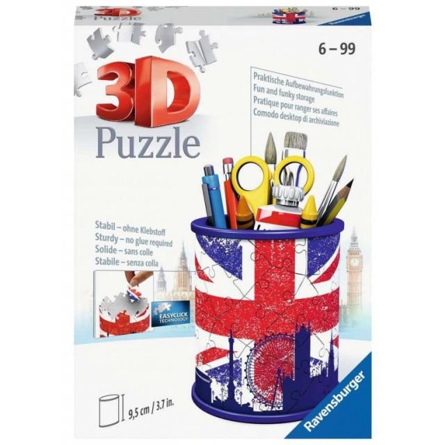 Obrázek produktu Ravensburger 11153 Puzzle 3D Stojan na tužky Union Jack 54 dílků