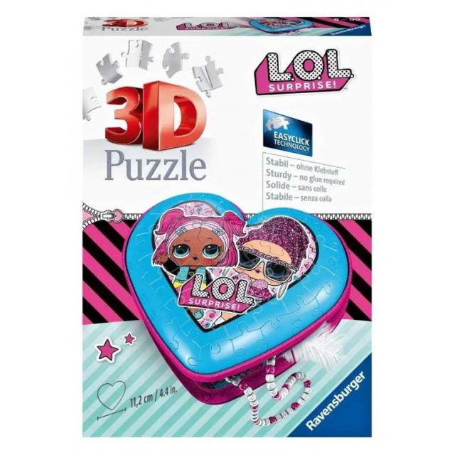 Obrázek produktu Ravensburger 11233 Puzzle 3D Srdce L.O.L. panenky 54 dílků