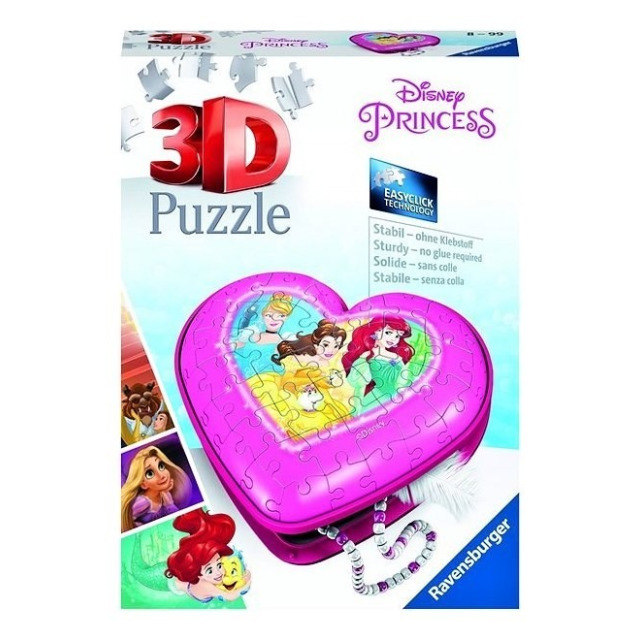 Obrázek produktu Ravensburger 11234 Puzzle 3D Srdce Disney princezny 54 dílků