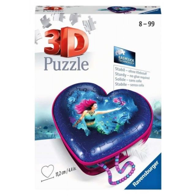 Obrázek produktu Ravensburger 11249 Puzzle 3D Srdce Mořská panna 60 dílků
