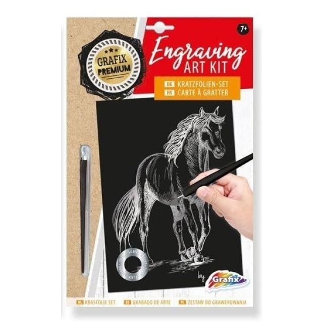 Obrázek produktu Grafix Premium Vyškrabávací obrázek stříbrný Kůň