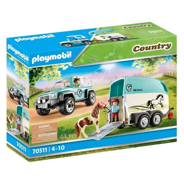 Obrázek produktu Playmobil 70511 SUV s přívěsem pro poníky
