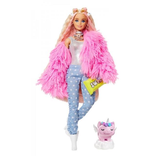 Obrázek produktu Barbie Extra Stylová dlouhovláska s prasátkem, Mattel GRN28