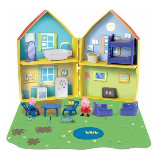 Obrázek produktu Peppa Pig Rozkládací domeček se dvěma figurkami a příslušenstvím