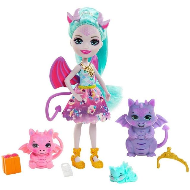 Obrázek produktu ENCHANTIMALS Rodinka Deanna s draky, Mattel GYJ09 / GJX43