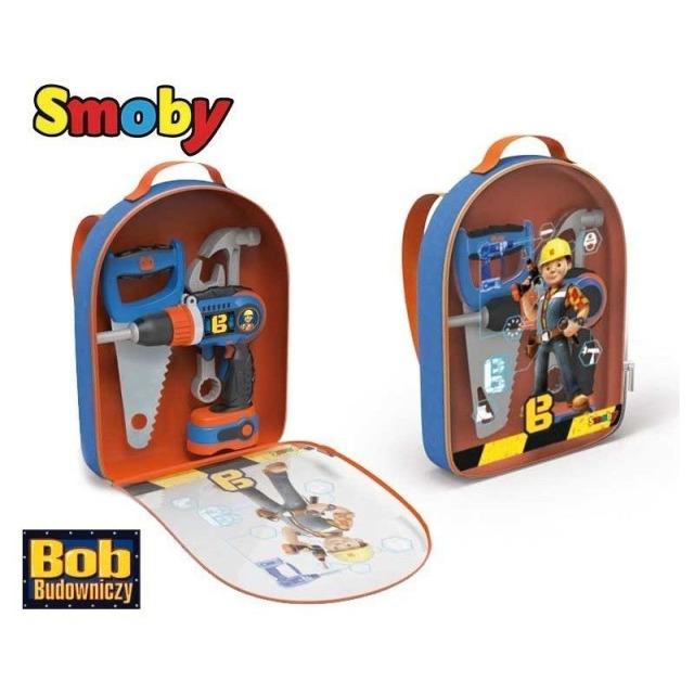 Obrázek produktu Bořek Batoh s mechanickým aku šroubovákem a nářadím, Smoby
