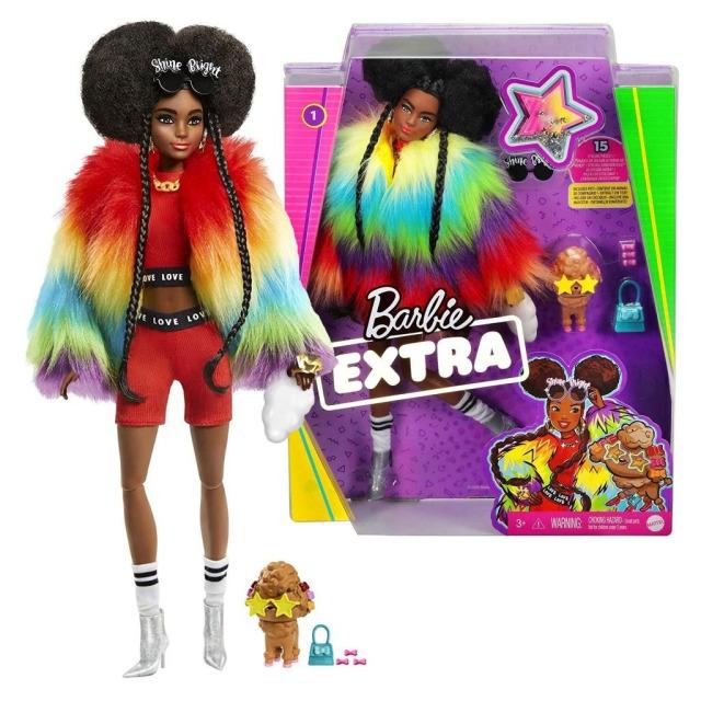 Obrázek produktu Barbie Extra Stylová dlouhovláska s hnědým pudlem, Mattel GVR04