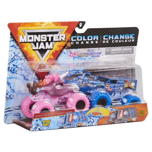 Obrázek produktu Spin Master Monster Jam Sběratelské dvoubalení Sparkle Smash vs. Ice Cream Man