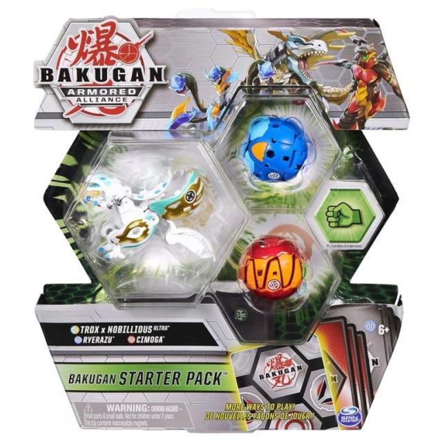 Obrázek produktu Bakugan startovací sada 3ks S2 Trox x Nobillious Ultra