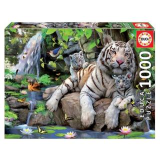 Obrázek 1 produktu EDUCA 14808 Puzzle Bílí bengálští tygři 1000 dílků
