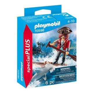 Obrázek 1 produktu Playmobil 70598 Pirát na voru se žralokem kladivounem