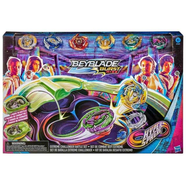 Obrázek produktu BeyBlade Burst Rise Hyphersphere  Aréna Extreme se 6 exkluzivními kotouči, Hasbro E9409