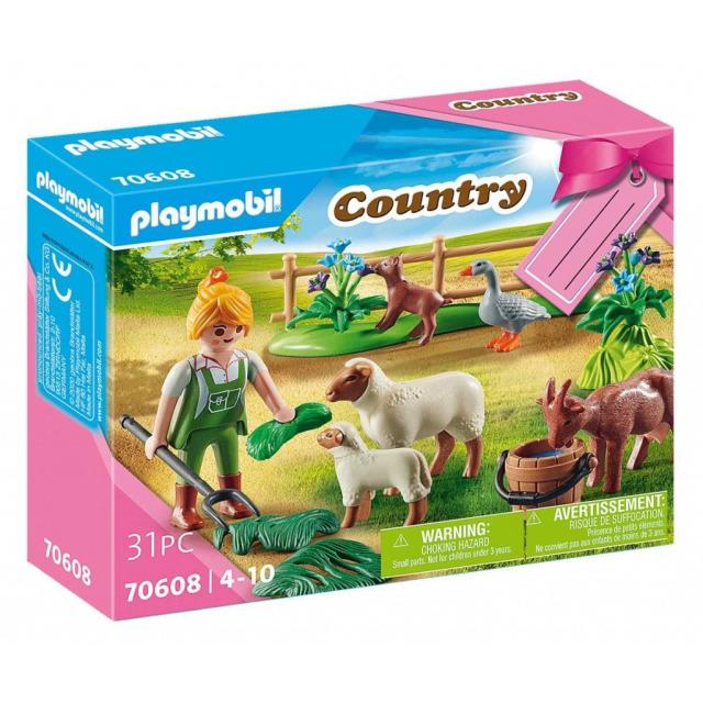 Obrázek produktu Playmobil 70608 Dárkový set: Farmářka se zvířaty