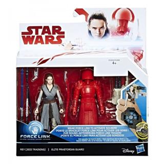 Obrázek 1 produktu Star Wars episoda 8 Force Link 9,5cm figurky s doplňky Rey a Elite Praetorian Guard