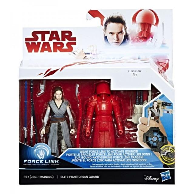 Obrázek produktu Star Wars episoda 8 Force Link 9,5cm figurky s doplňky Rey a Elite Praetorian Guard