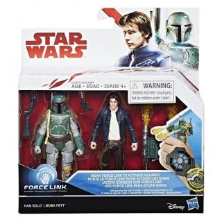 Obrázek 1 produktu Star Wars episoda 8 Force Link 9,5cm figurky s doplňky Han Solo a Boba Fett