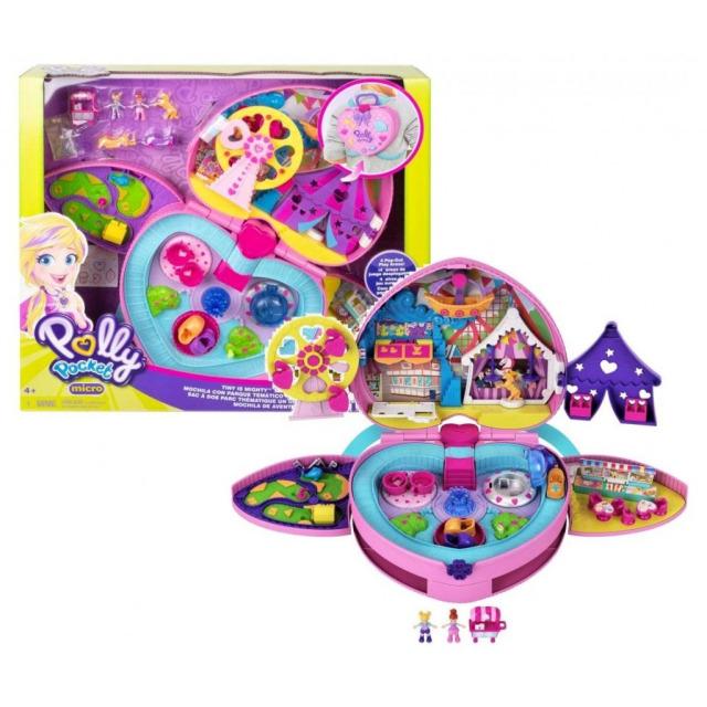 Obrázek produktu Polly Pocket Pocketový batůžek srdce Zábavní park, Mattel GKL60
