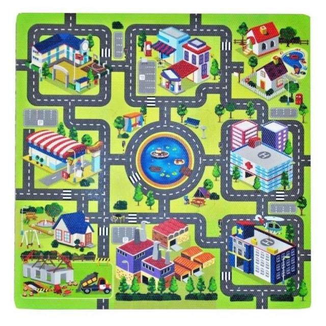 Obrázek produktu Pěnové puzzle Město 9ks 32x32 cm